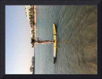 Isabela on a Stand Up Paddle