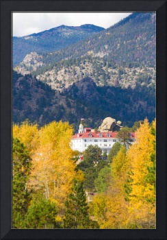 Colorado Estes Park Stanly Hotel Autumn View