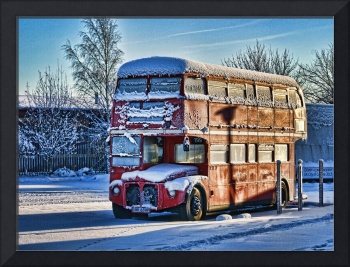 Routemaster double decker Bus Christmas morning