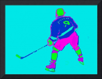 Hockey Center aqua blue purple green (c)