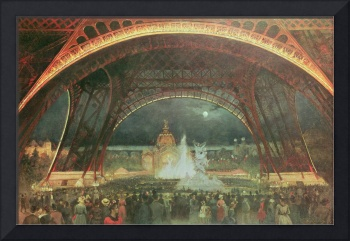 Celebration on the night of the Exposition Univers