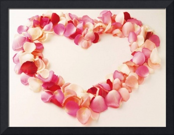 Pink and Red Rose Petal Love Wreath Valentine