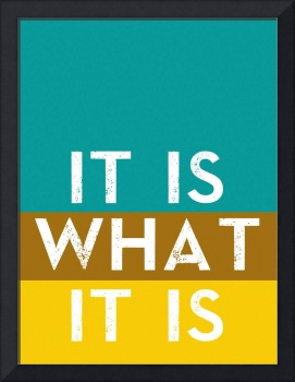 Typography Quote Poster - It is what it is