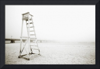 Life Guard Tower On The Beach