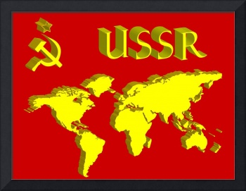 ussr symbol and world map