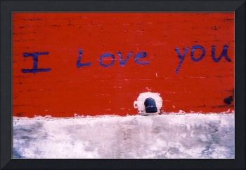 I Love You Graffiti - Harbord Red Brick