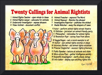 Twenty Callings for Animal Rightists