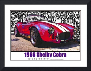 1966 Shelby Cobra, Red with White Border