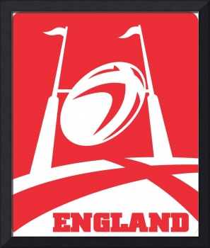 England Rugby Ball Goal Post
