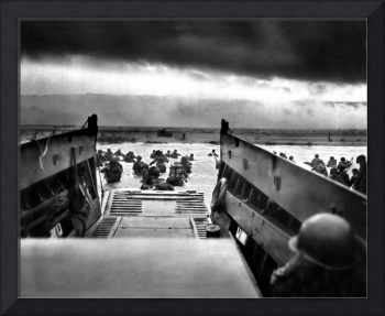 Troops from the First Division landing on Omaha Be