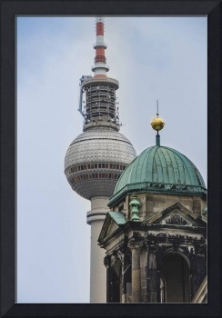 Berlin Cathedral and The TV Tower near that