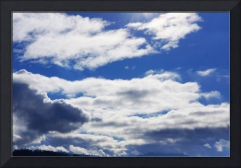 Blue Sky Art Prints Fluffy Blue Clouds Weather Ski