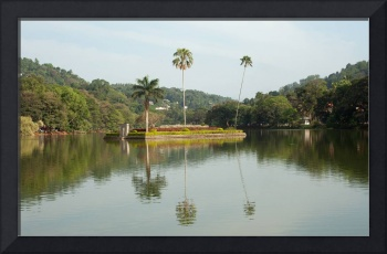 Kandy Sri Lanka Island in the centre of the lake (