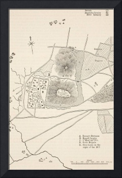 Plan of the defence of Seetabuldee Hill
