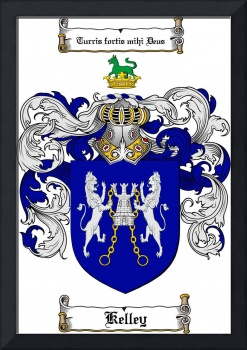 KELLEY FAMILY CREST - COAT OF ARMS