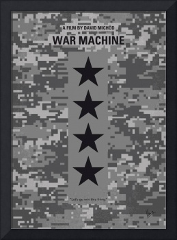 No817 My War Machine minimal movie poster