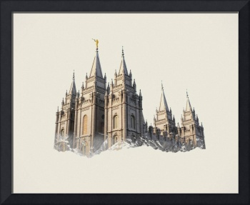 Salt Lake Temple Double Exposure