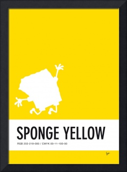 No10 My Minimal Color Code poster Spongebob
