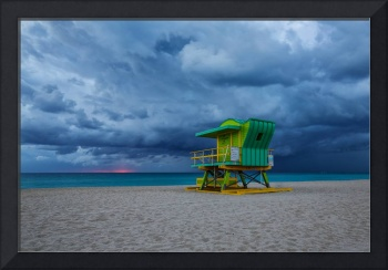 Stormy Sunrise ~ 4th Street Lifeguard Tower
