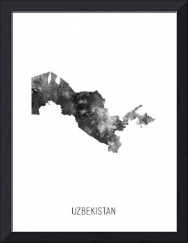 Uzbekistan Watercolor Map