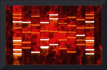 Abstract Red DNA Art Paintings on Canvas