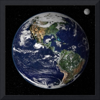 Full Earth showing North and South America.
