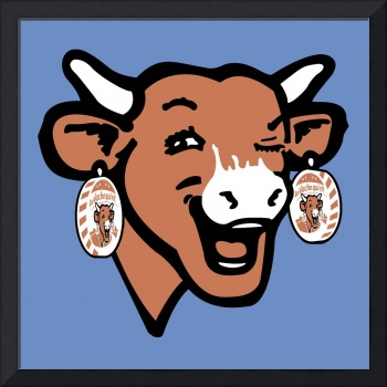 The Laughing Cow Pop 2 - Brown on Blue