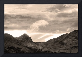 Boulder County Indian Peaks Sepia Image