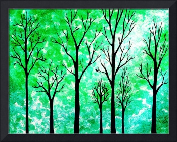 Light In The Forest Abstract Painting