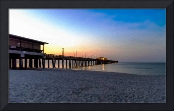 Dawn at Gulf Shores Pier Al Seascape 1283A