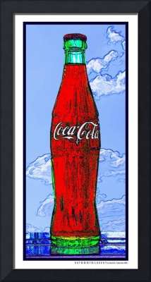 Coca-Cola Bottle in the Sky, White Border