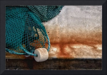 Fishing Net with Rusty Boat