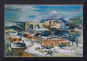 Preston Dickinson~Winter, Harlem River