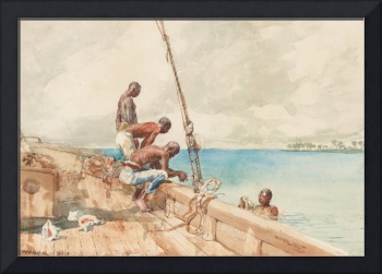 The Conch Divers, 1885 (w/c over graphite on paper