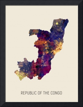 Republic of the Congo Watercolor Map