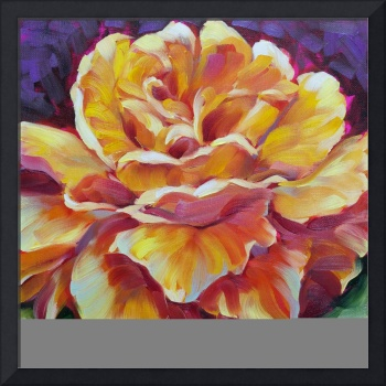 Golden Yellow Rose 2 oil large