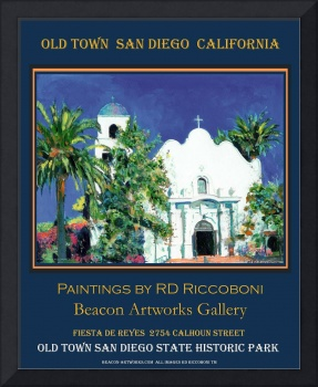 Old Town San Diego Poster by Riccoboni