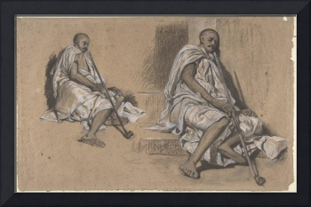 Alexandre-Gabriel Decamps~Two Studies of a Seated