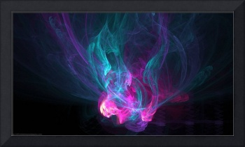 Purple Blue Flames Abstract