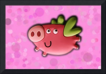 Toy pig on pink background