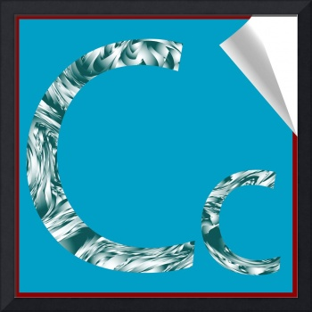 alphabet letter C sticker