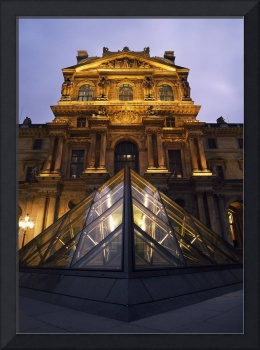 Small Glass Pyramid Outside The Louvre Museum At D