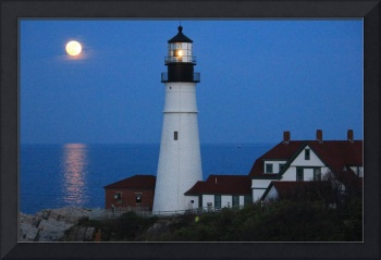 Super Moon's Lighthouse View