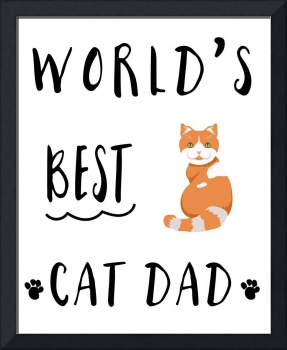 Worlds Best Cat Dad Orange & White Tabby