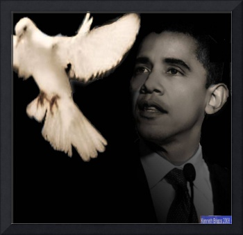 Obama black and white dove of hope wednesday 5