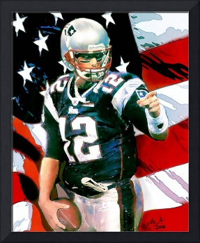 NFL, Tom Brady, New England Patriots Art