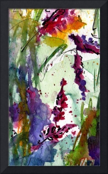 Bumble 3 Abstract Original Art by Ginette