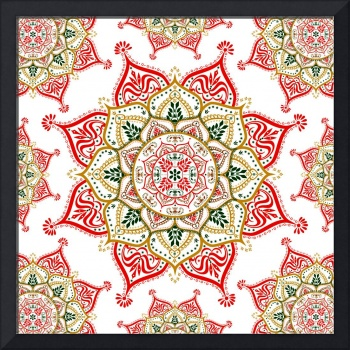 Red Gold Green Mandalas
