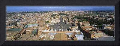 Overview of the historic centre of Rome and St. P