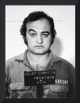 Painting of John Belushi Mug Shot For Film Vertica